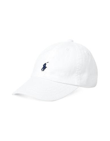 Ralph Lauren Childrenswear Cotton Chino Baseball Cap-WHITE-One Size