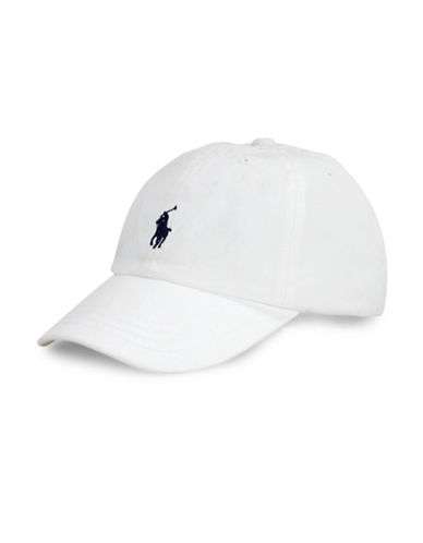 Ralph Lauren Childrenswear Cotton Chino Baseball Cap-WHITE-One Size