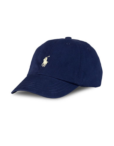 Ralph Lauren Childrenswear Cotton Chino Baseball Cap-BLUE-One Size