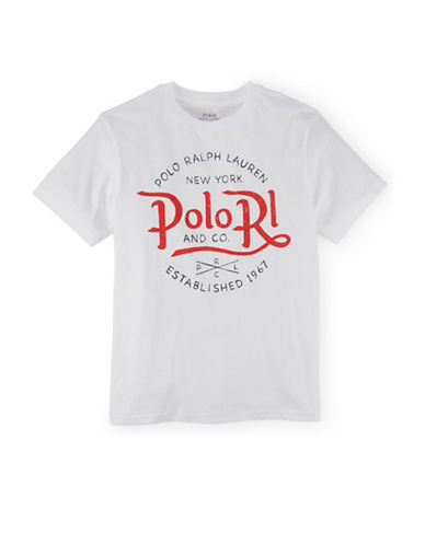 Ralph Lauren Childrenswear Jersey Cotton Tee-WHITE-Small 88178626_WHITE_Small