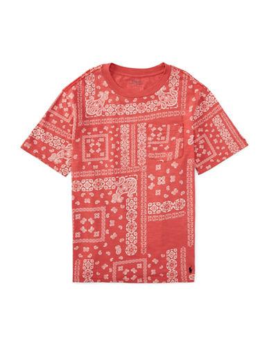 Ralph Lauren Childrenswear Bandana Print Jersey T-Shirt-ORANGE-Large 88315661_ORANGE_Large