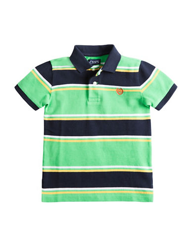 Chaps Multi-Striped Pique Polo Shirt-GREEN-7