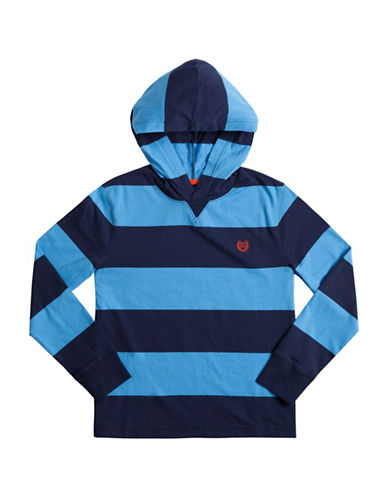 Chaps Striped Jersey Hoodie-BLUE-X-Large 88606628_BLUE_X-Large
