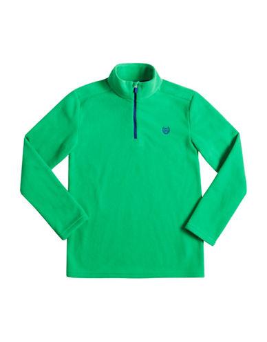 Chaps Half-Zip Fleece Pullover-GREEN-Large