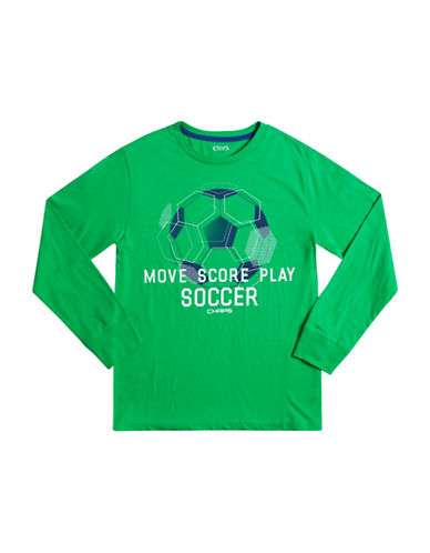 Chaps Long-Sleeve Graphic Tee-GREEN-X-Large 88606620_GREEN_X-Large