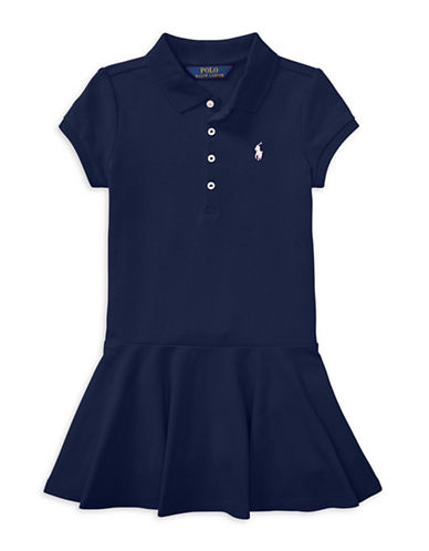 Ralph Lauren Childrenswear Short-Sleeve Polo Dress-NAVY-4T