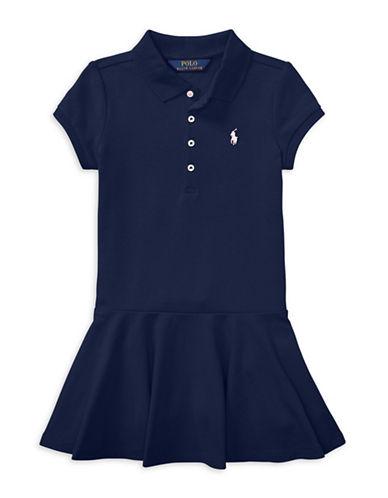Ralph Lauren Childrenswear Short-Sleeve Polo Dress-NAVY-5