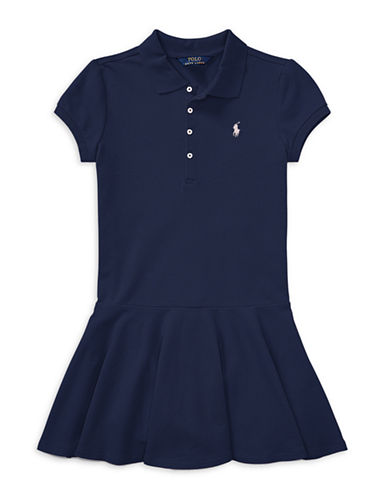 Ralph Lauren Childrenswear Easy-Fit Polo Dress-NAVY-Small