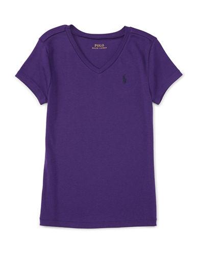 Ralph Lauren Childrenswear Pima Cotton V Neck T-Shirt-PURPLE-Large 88402695_PURPLE_Large