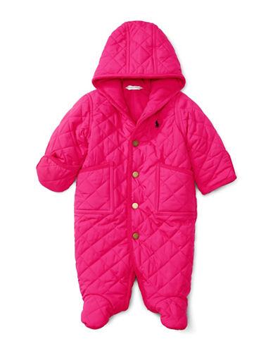 Ralph Lauren Childrenswear Corduroy Trim Microfibre Bunting-PINK-3 Months