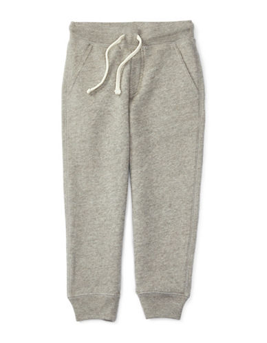 Ralph Lauren Childrenswear Tapered Fleece Sweatpants-GREY-3T 88513698_GREY_3T
