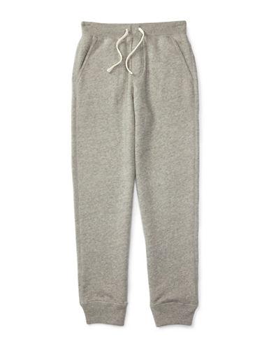 Ralph Lauren Childrenswear Fleece Polo Sweatpants-GREY-Large 88514684_GREY_Large