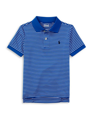 Polo Sport Stripe Stretch Lisle Polo Shirt-SAPPHIRE STAR-Large 88459701_SAPPHIRE STAR_Large