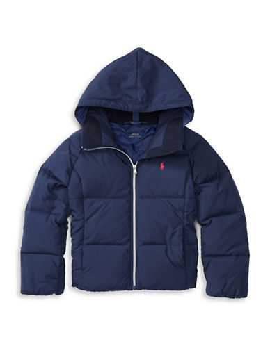 Ralph Lauren Childrenswear Waterproof Insulated Hooded Jacket-BLUE-Large