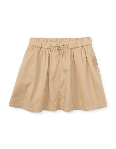 Ralph Lauren Childrenswear Drawstring Pocket Chino Skirt-BEIGE-10