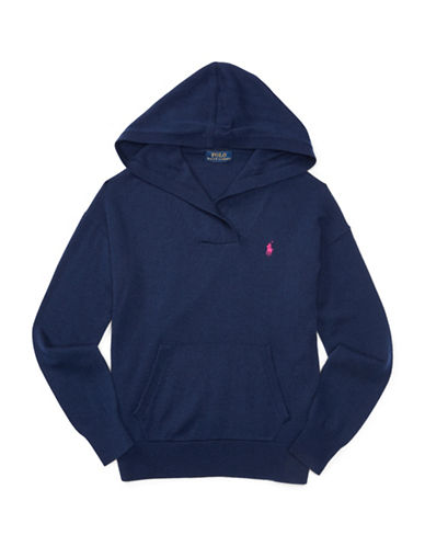 Ralph Lauren Childrenswear Pullover Hoodie-BLUE-Large 88402657_BLUE_Large