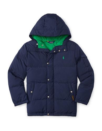 Ralph Lauren Childrenswear Hooded Down Jacket-FRENCH NAVY-X-Large 88514643_FRENCH NAVY_X-Large