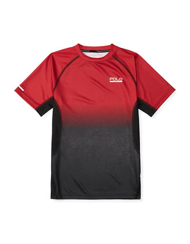 Polo Sport Micro Dot Printed T-Shirt-RED-Small 88514738_RED_Small