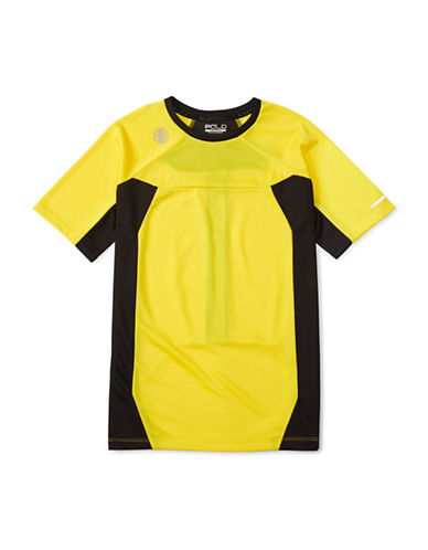 Polo Sport Pieced Performance T-Shirt-YELLOW-Large 88459673_YELLOW_Large