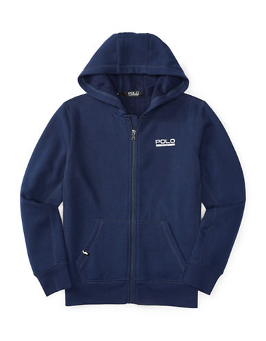 Polo Sport Knit Fleece Hoodie-FRENCH NAVY-Large 88514745_FRENCH NAVY_Large