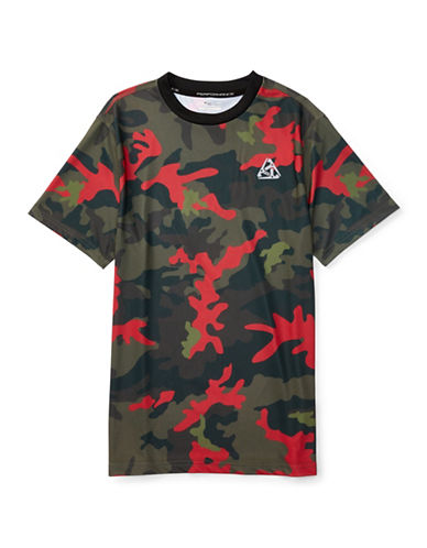 Polo Sport Camo Performance Jersey T-Shirt-GREEN-X-Large 88514772_GREEN_X-Large