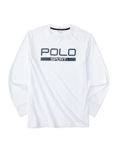 Polo Sport Jersey Long Sleeve T-Shirt-WHITE-Medium 88459714_WHITE_Medium