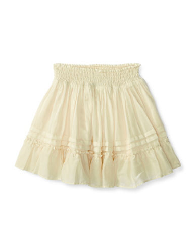 Ralph Lauren Childrenswear Cotton-Tiered Skirt-WHITE-5