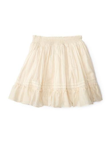 Ralph Lauren Childrenswear Cotton Tiered Skirt-WHITE-Small plus size,  plus size fashion plus size appare
