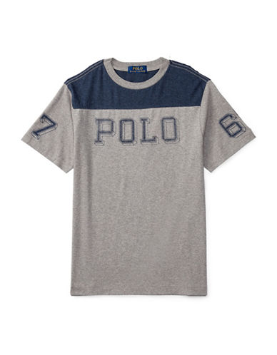 Ralph Lauren Childrenswear Jersey Graphic Tee-GREY-Large 88514600_GREY_Large