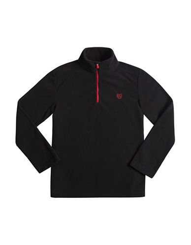 Chaps Half-Zip Fleece Pullover-BLACK-Small 88755675_BLACK_Small