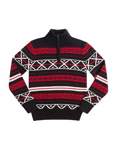 Chaps Cotton Jacquard Pullover-BLACK-Small 88755631_BLACK_Small