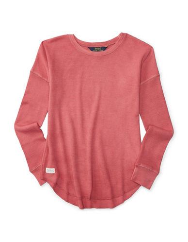 Ralph Lauren Childrenswear Waffle-Knit Top-PINK-Medium 88402824_PINK_Medium