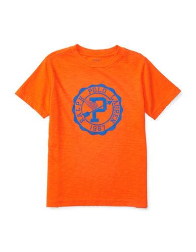 Ralph Lauren Childrenswear Slub Jersey Graphic T-Shirt-ORANGE-3T 88513704_ORANGE_3T