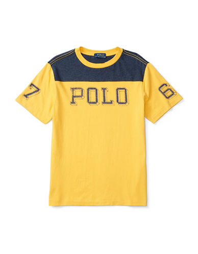 Ralph Lauren Childrenswear Jersey Graphic Tee-ORANGE-Large 88514612_ORANGE_Large