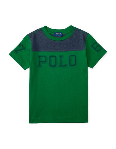 Ralph Lauren Childrenswear Jersey Graphic Tee-GREEN-Large 88514608_GREEN_Large