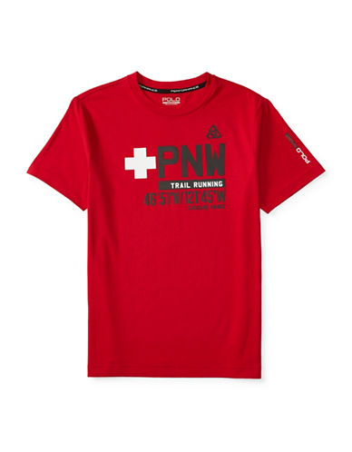 Polo Sport Graphic Crew Neck T-Shirt-RED-Medium 88514762_RED_Medium