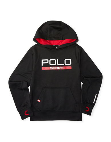 Polo Sport Fleece Printed Hoodie-POLO BLACK-Large 88514773_POLO BLACK_Large
