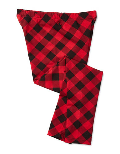 Ralph Lauren Childrenswear Buffalo Check Jersey Leggings-RED-Medium 88659589_RED_Medium