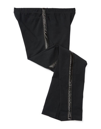 Ralph Lauren Childrenswear Cotton Jersey Tuxedo Leggings-BLACK-Medium 88659597_BLACK_Medium