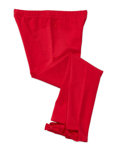 Ralph Lauren Childrenswear Cotton Jersey Bow-Back Leggings-RED-Large 88659616_RED_Large