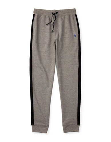 Ralph Lauren Childrenswear Interlock Track Pants-GREY-2T 88716088_GREY_2T