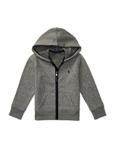 Ralph Lauren Childrenswear Heathered Fleece Hoodie-GREY-2T 88716103_GREY_2T