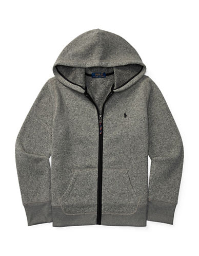 Ralph Lauren Childrenswear Bonded Fleece Hoodie-GREY-Large 88718202_GREY_Large