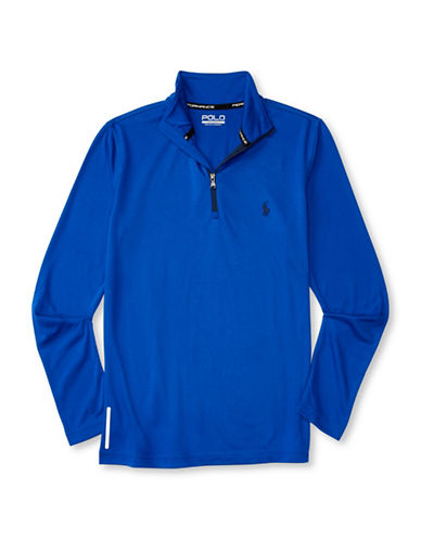 Polo Sport Peached Jersey Pullover-BLUE-Small 88792906_BLUE_Small