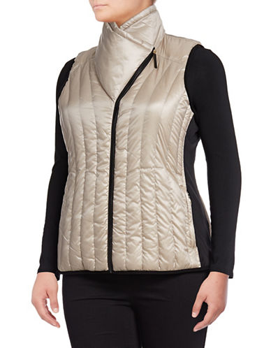 Calvin Klein Performance Plus Down Filled Puff Vest-GOLD-3X 88737846_GOLD_3X