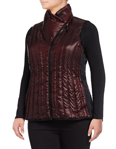 Calvin Klein Performance Plus Down Filled Puff Vest-RED-1X 88737841_RED_1X