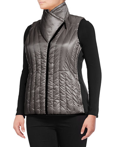 Calvin Klein Performance Plus Down Filled Puff Vest-GREY-2X 88737848_GREY_2X