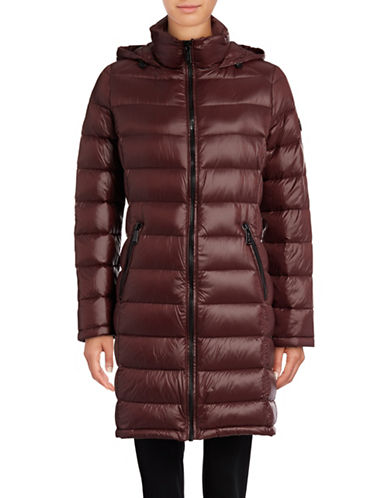 Calvin Klein Long Packable Down Jacket-RED-Large 88988162_RED_Large