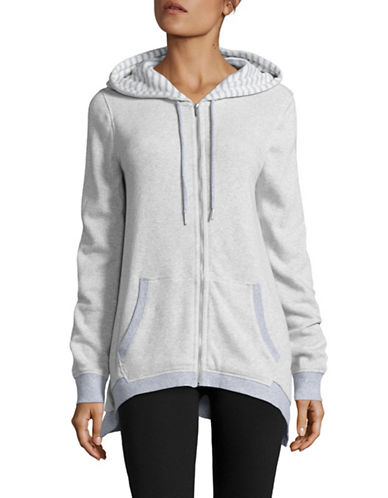 Calvin Klein Performance Striped Cotton Full-Zip Hoodie-WHITE-Small 88509070_WHITE_Small