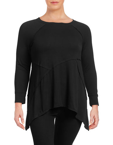 Calvin Klein Performance Plus Cut and Sew Active  Top-BLACK-3X 88512132_BLACK_3X